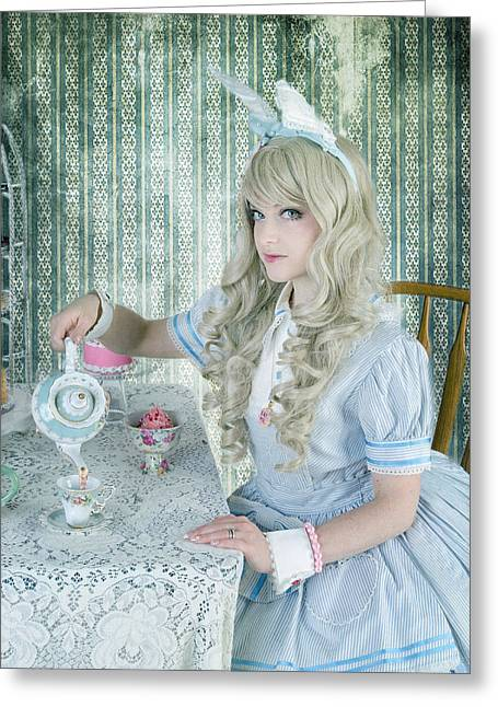 Alice Lolita Greeting Card by Christine Holding