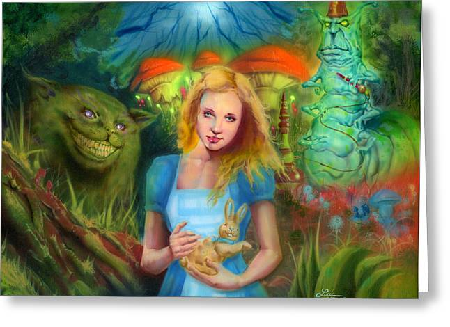 Alice  Greeting Card by Luis  Navarro