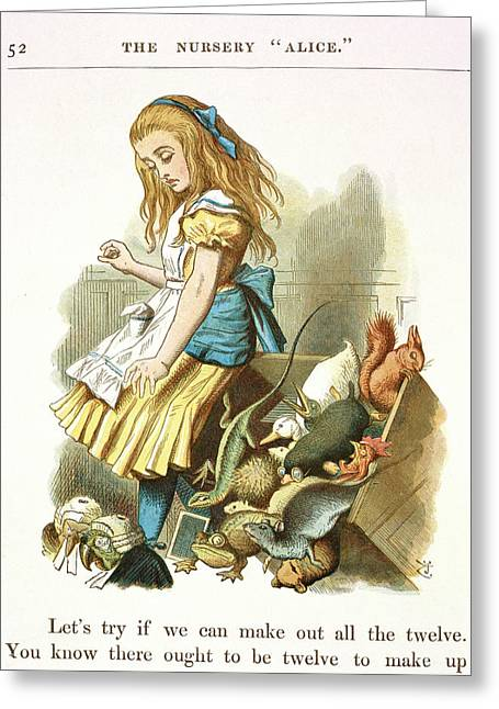 Alice Upsets The Jury-box Greeting Card by British Library