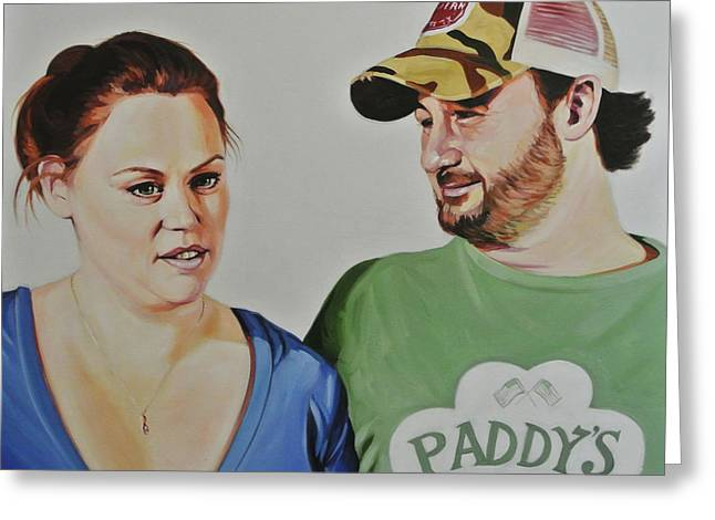 Alicia And Brian Greeting Card by Steve Hunter