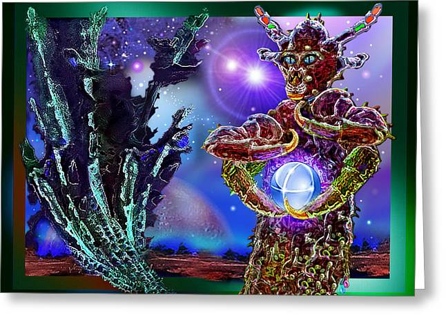 Alien  Beauty Greeting Card by Hartmut Jager