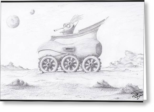 Alien Buggy Greeting Card