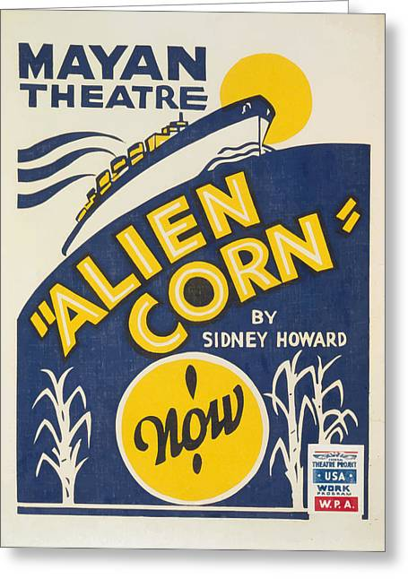 Alien Corn Greeting Card by American Classic Art
