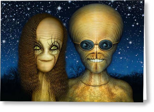 Alien Couple Greeting Card