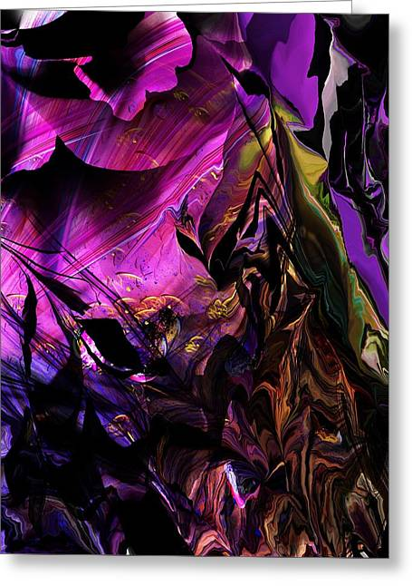 Greeting Card featuring the digital art Alien Floral Fantasy by David Lane