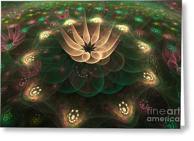 Alien Flower Greeting Card by Svetlana Nikolova