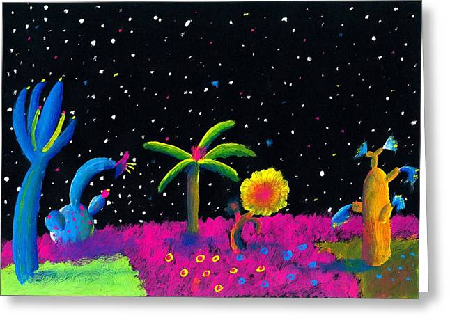 Alien Garden Greeting Card