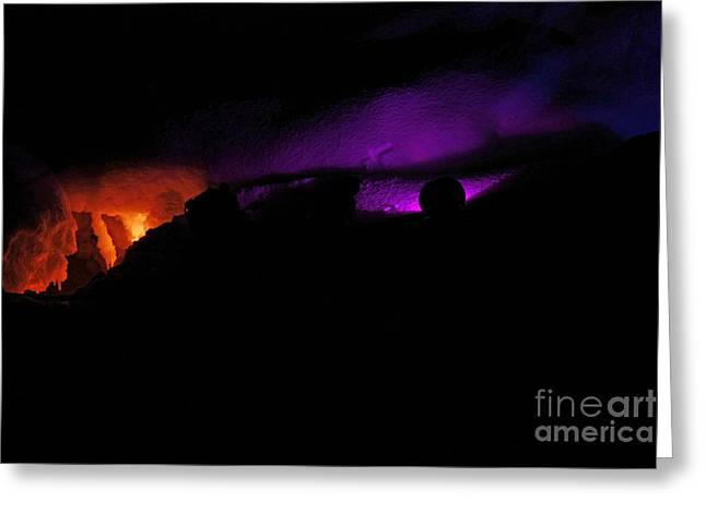 Alien Invasion - Light Show Greeting Card by Inspired Nature Photography Fine Art Photography