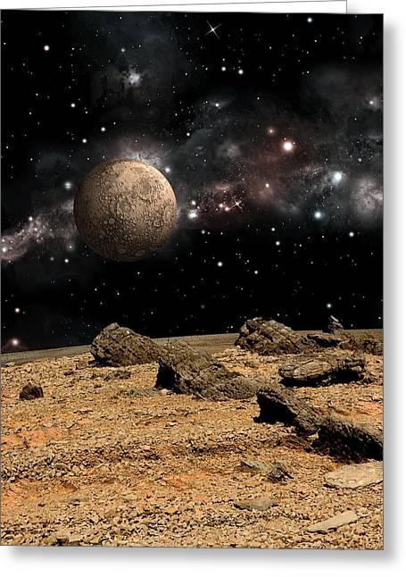 Alien Landscape No.8b Greeting Card