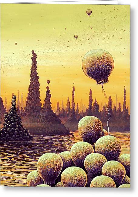 Alien Life Forms Greeting Card by Richard Bizley