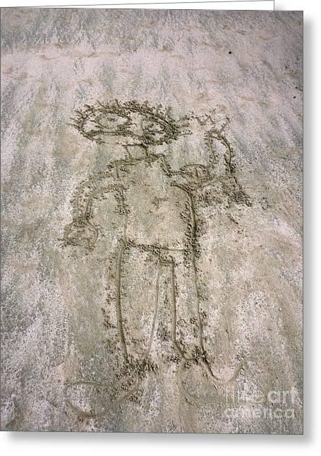 Alien On The Beach Greeting Card