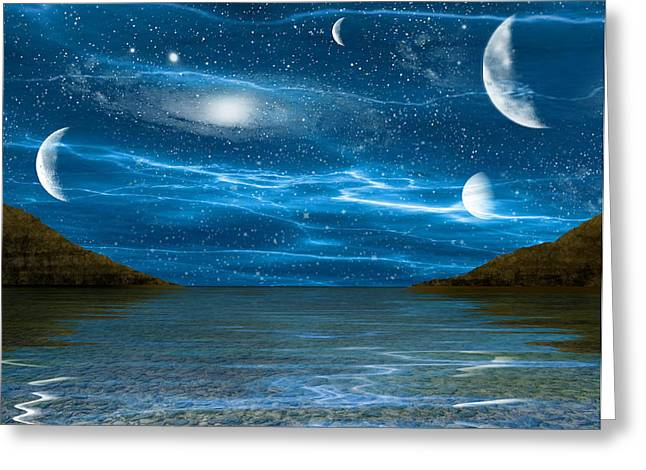 Alien Waterscape Greeting Card by Brian Wallace