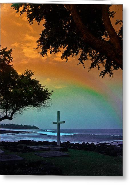 Alii Cross Greeting Card by Randy Sylvia