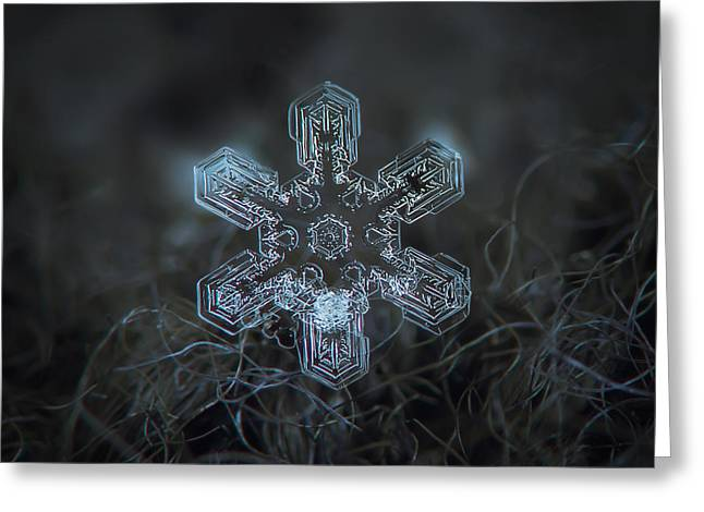 Snowflake Photo - Alioth Greeting Card by Alexey Kljatov