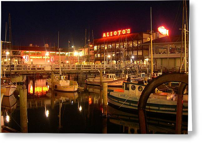Alioto's On The Pier Greeting Card