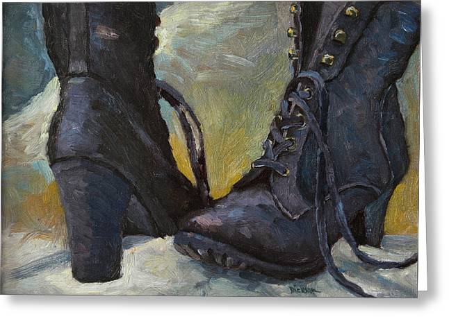 Ali's Boots Greeting Card