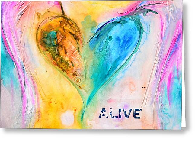 Alive Greeting Card by Ivan Guaderrama