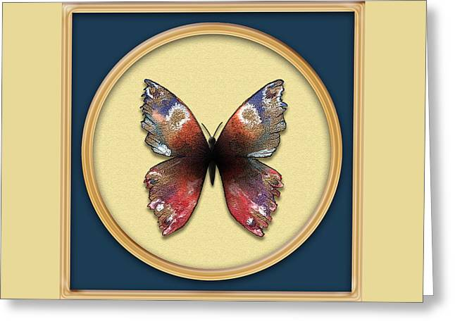 Alizarin Butterfly Greeting Card