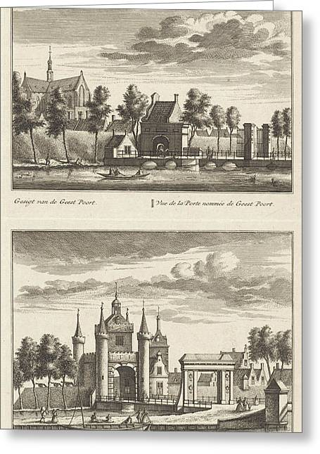 Alkmaar With City Gates And The Great Church Greeting Card by Litz Collection