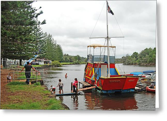 Greeting Card featuring the photograph All Aboard by Ankya Klay