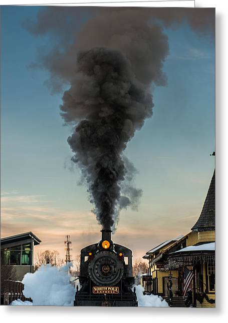 All Aboard Greeting Card by Scott Hafer