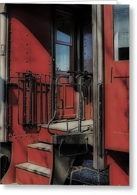 All Aboard Greeting Card by Skip Willits