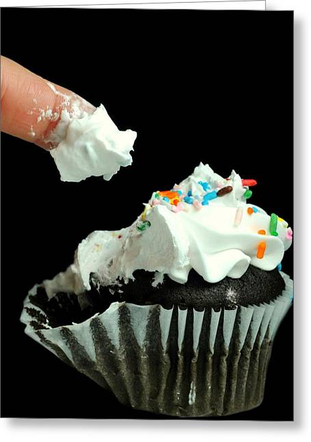 All About The Frosting Greeting Card by Diana Angstadt