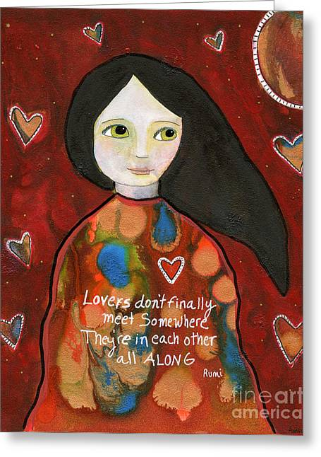 All Along Greeting Card by AnaLisa Rutstein