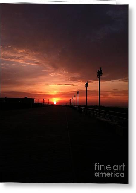 All Along The Boardwalk Greeting Card by John Telfer