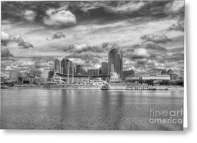 All American City 2 Bw Greeting Card