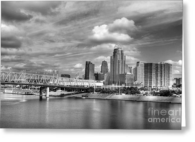 All American City 3 Bw Greeting Card by Mel Steinhauer