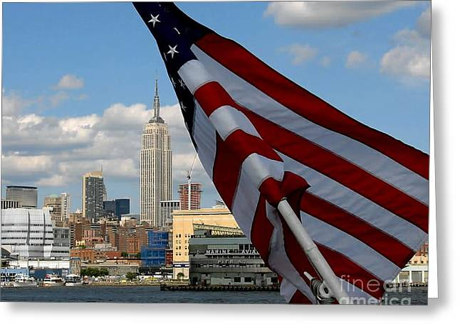 All American City Greeting Card