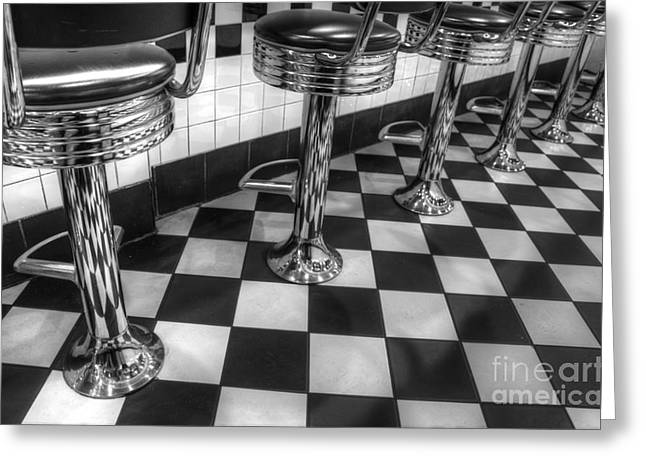 All American Diner Greeting Card by Bob Christopher