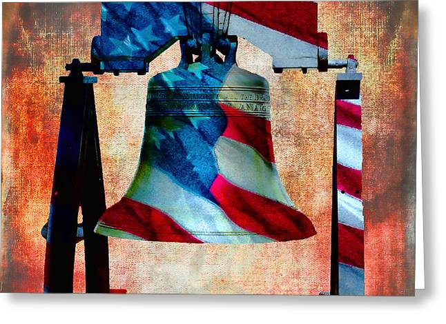 Liberty Bell Art Smooth All American Series Greeting Card