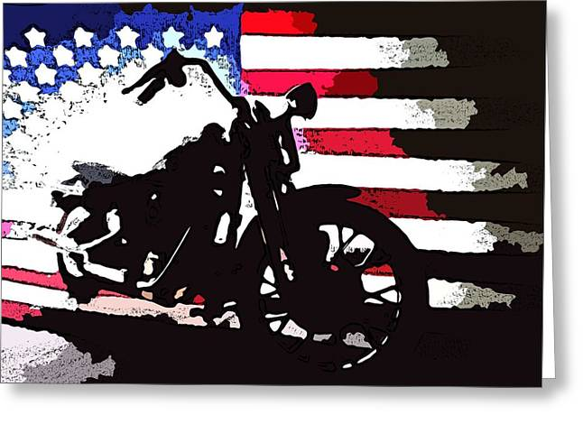 All American - Sketch Greeting Card by Victoria Fischer