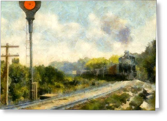 All Clear On The Pere Marquette Railway  Greeting Card by Michelle Calkins