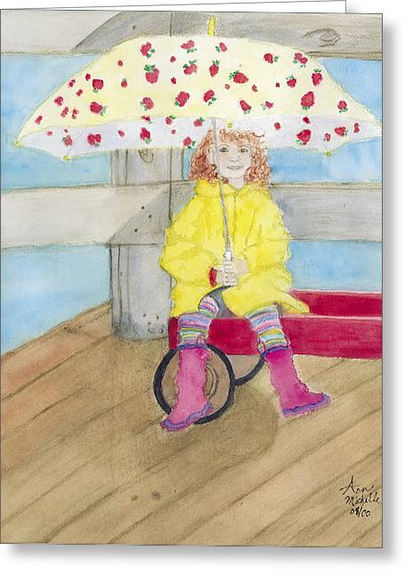 All Dressed Up And Ready For Rain Greeting Card by Ann Michelle Swadener