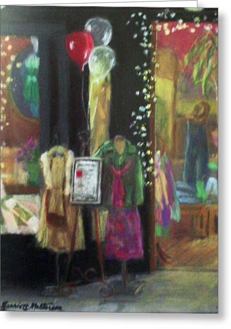 All Dressed Up For Artwalk Greeting Card by Harriett Masterson