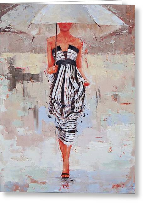 All Dressed Up Greeting Card by Laura Lee Zanghetti
