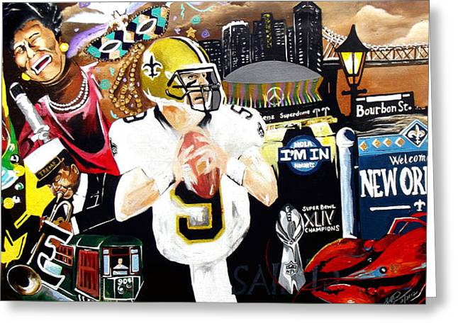 All Hail New Orleans Greeting Card by Alonzo Butler