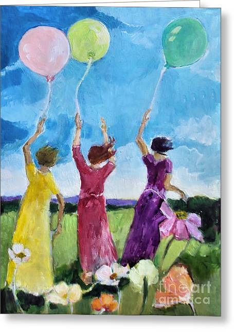 All In A Row Greeting Card by Diane Ursin