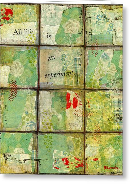 All Life...abstract Art Greeting Card by Blenda Studio