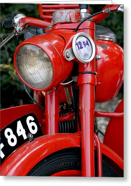 All Original English Motorcycle Greeting Card by Bob Slitzan