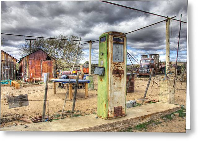 All Out Of Gas Greeting Card by Wendell Thompson