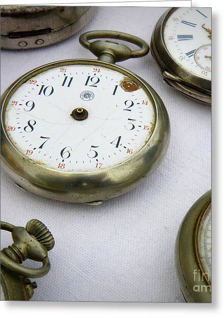 All Out Of Time Greeting Card