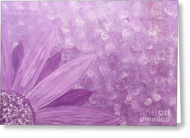 All Purple Flower Greeting Card