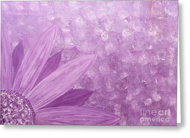 All Purple Flower Greeting Card
