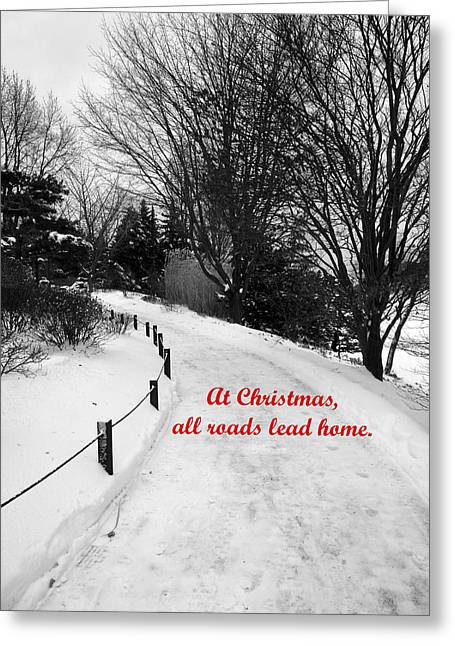 All Roads Lead Home Greeting Card by David Bearden