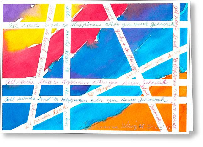 All Roads Greeting Card by Ramona Wright