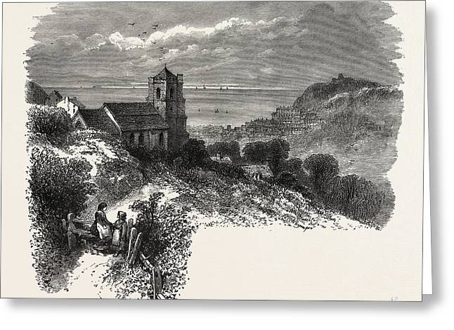 All Saints, Hastings, From Eastcliff, The South Coast Greeting Card by English School